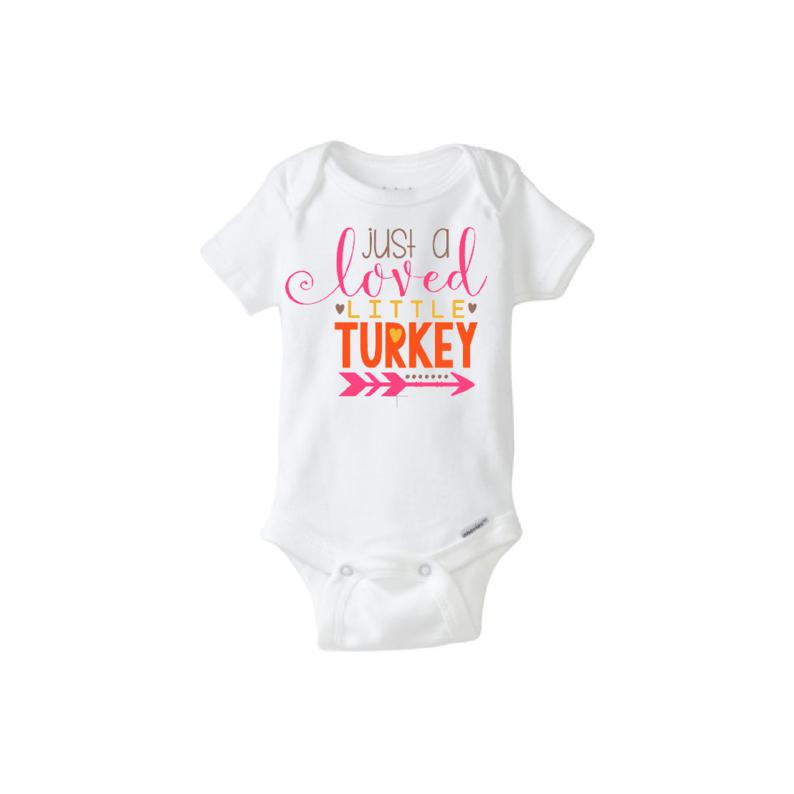 b09d041786f3 Baby Onesie Just a Loved Little Turkey on Storenvy