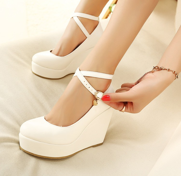 sz 4 to 8.5 black white round toe kawaii cross strap mary jane platform  heels imitation leather shoes gyaru on Storenvy bbdbfa3e3a6b