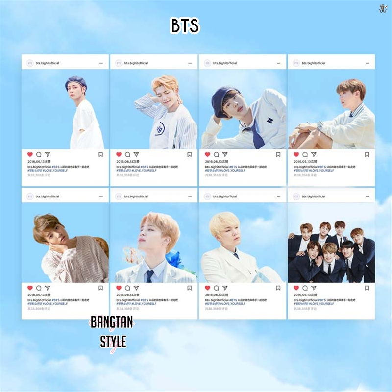 BTS Transparent Photocards