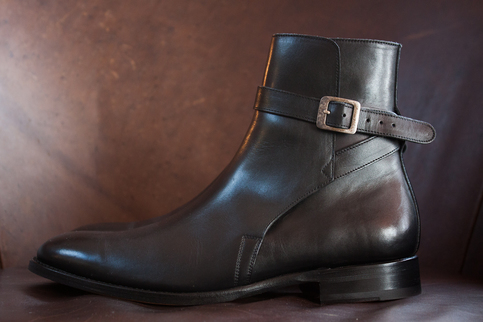 Handmade Men Brown Leather Jodhpurs Men Brown Ankle Boots
