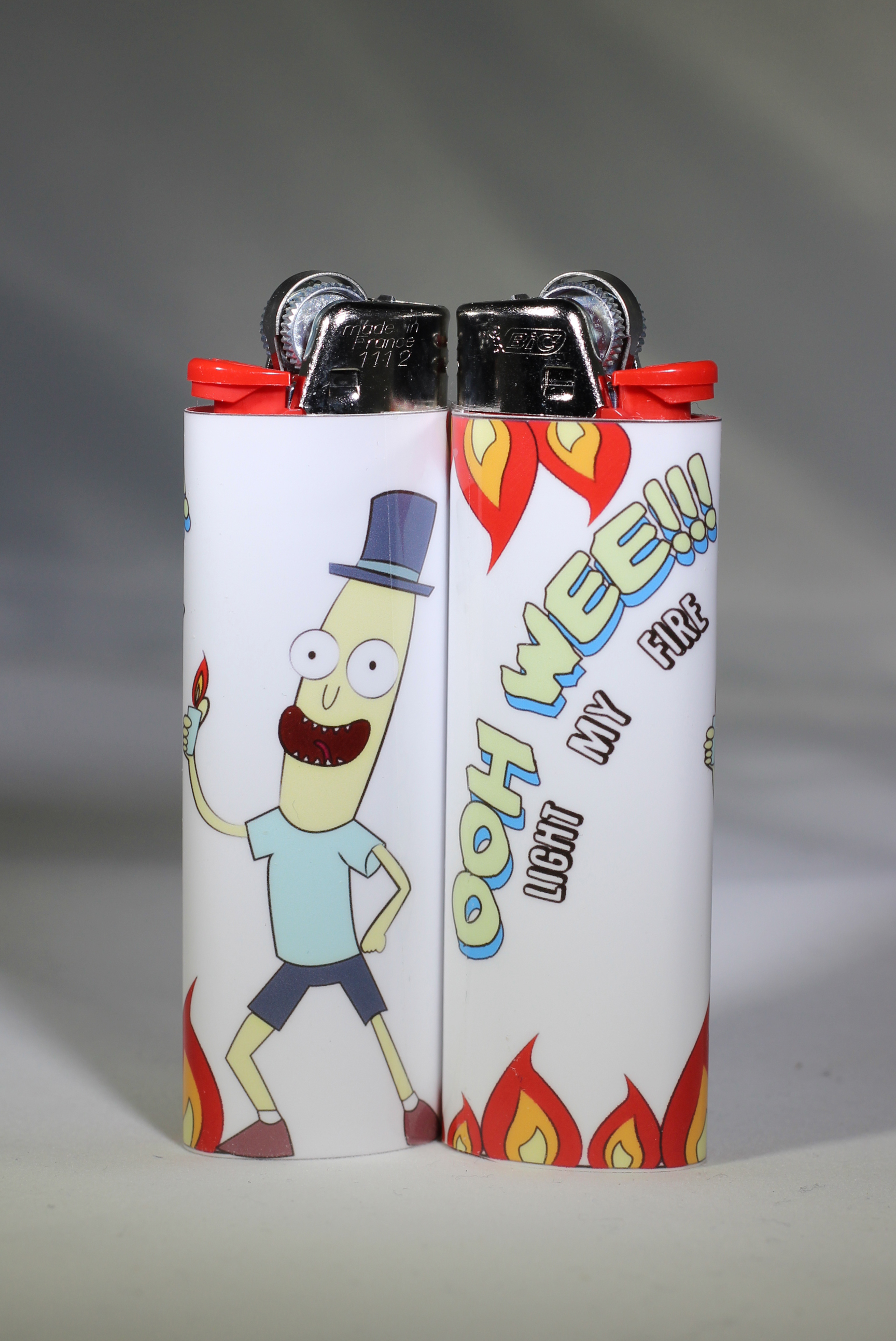Mr  Poopy Butthole Bic Lighter - Custom Made  Handmade  Rick and Morty /  Adult Swim sold by Stay Lit Art