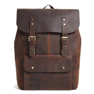 82138e199eb2 On Sale. Vintage handmade leather backpack travel backpack  school rucksack  9452