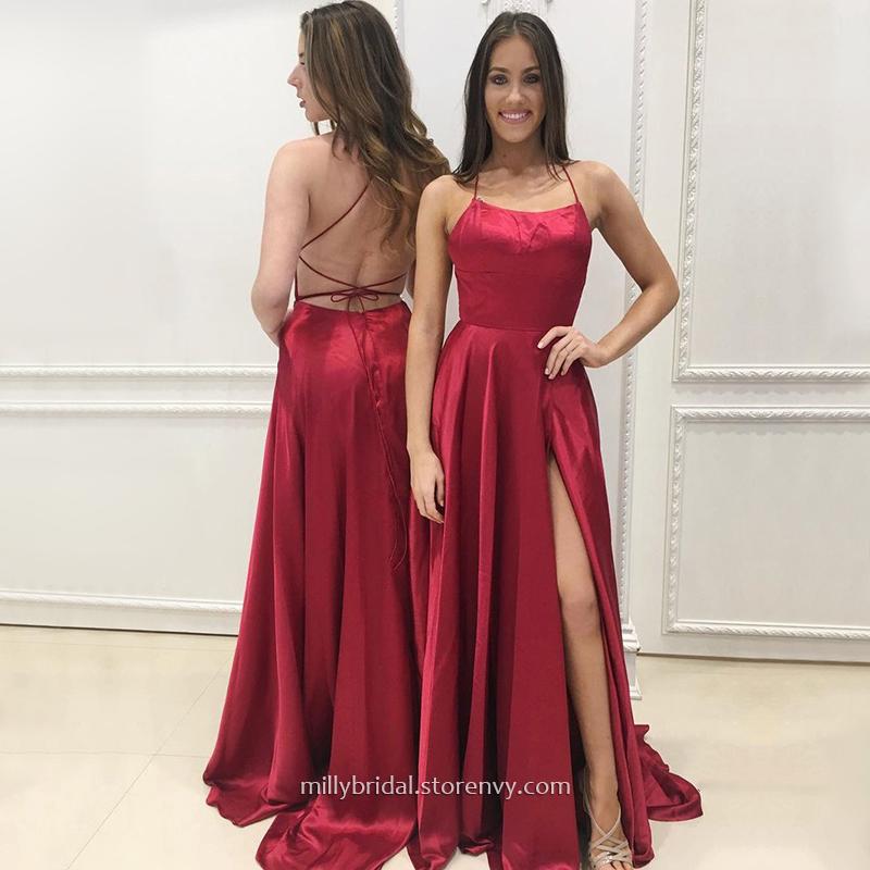 065fc3adac Popular Burgundy Long Prom Dresses