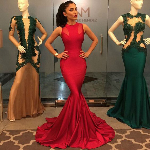 d1bd7de7 Sparkly Red Prom Dress, Floor Length O Neckline Long Mermaid Prom Dresses,  Stain Long Evening Gowns on Storenvy