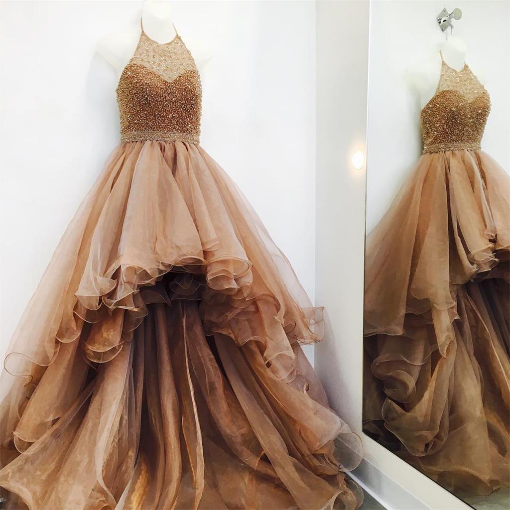 2fe46836bdf 2018 High Low Unique Design Modern Prom Dresses
