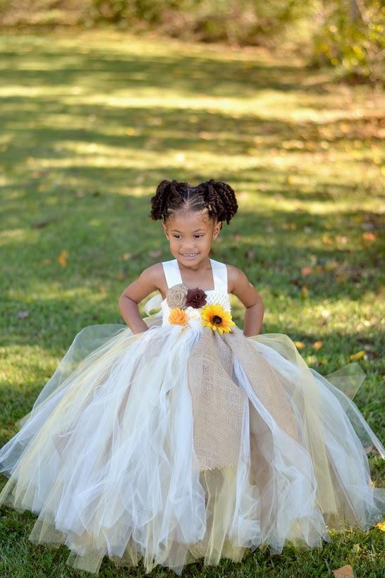 47712363a Sunflower & Burlap Tutu, Country Rustic Flower Girl Tutu Dress on ...