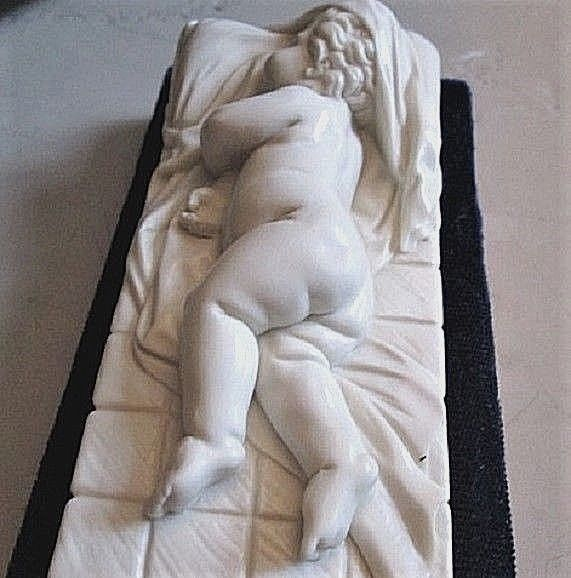 Art Sculptures Sleeping Infant Cupid Sculpture Alva Museum Replicas Original Walters Signed