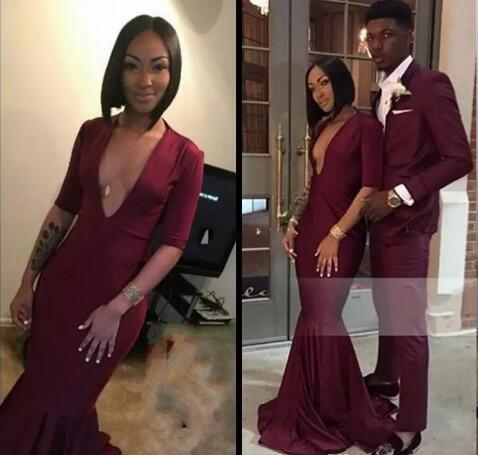 2018 Burgundy Black Girl Prom Dress Evening Dress, Long Prom Dresses ...