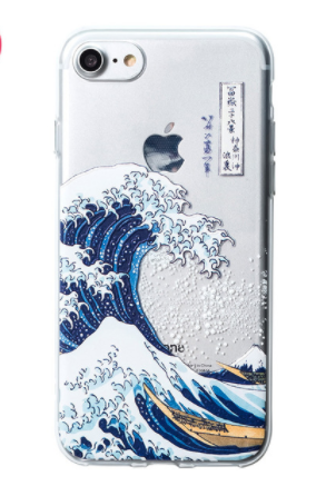 finest selection 88428 95063 The Great Wave Off Kanagawa Katsushika Hokusai Relief Phone Case Soft Case  Free Shipping from Widget Essentials