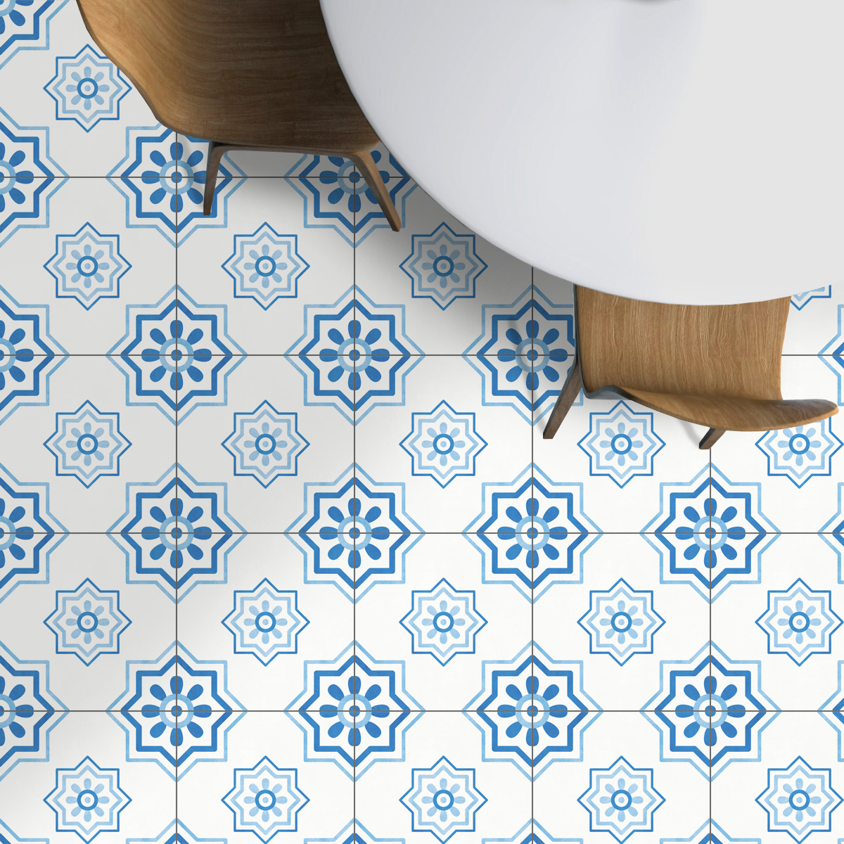 Málaga Tile Stickers, Mediterranean Tile Stickers, Tiles for Kitchen ...