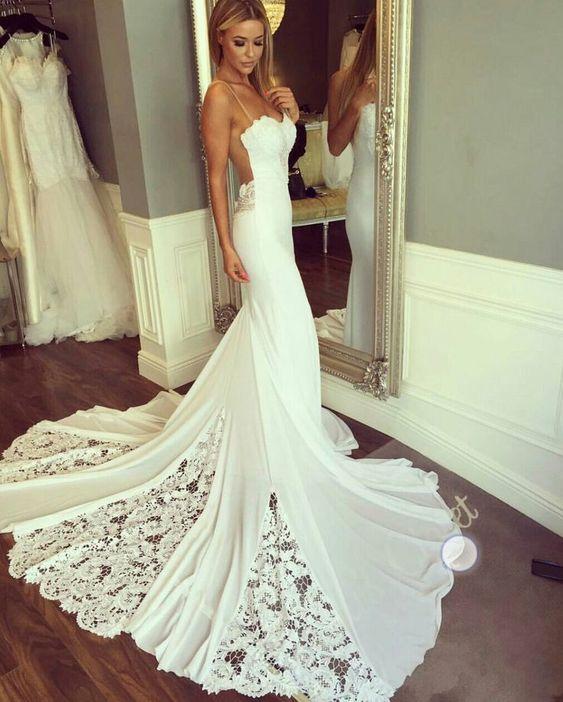 Spaghetti Strap Sexy Wedding Dresses