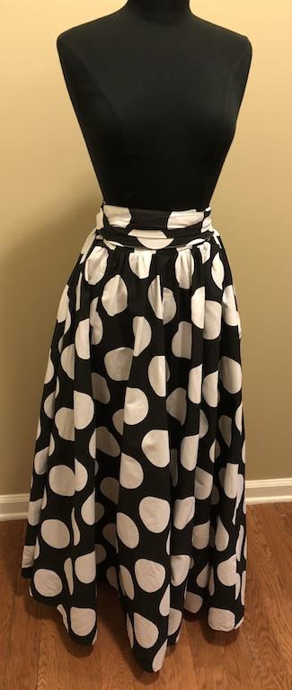 dc45d4e50 White & Black Medium Polka Dot Maxi Skirt on Storenvy