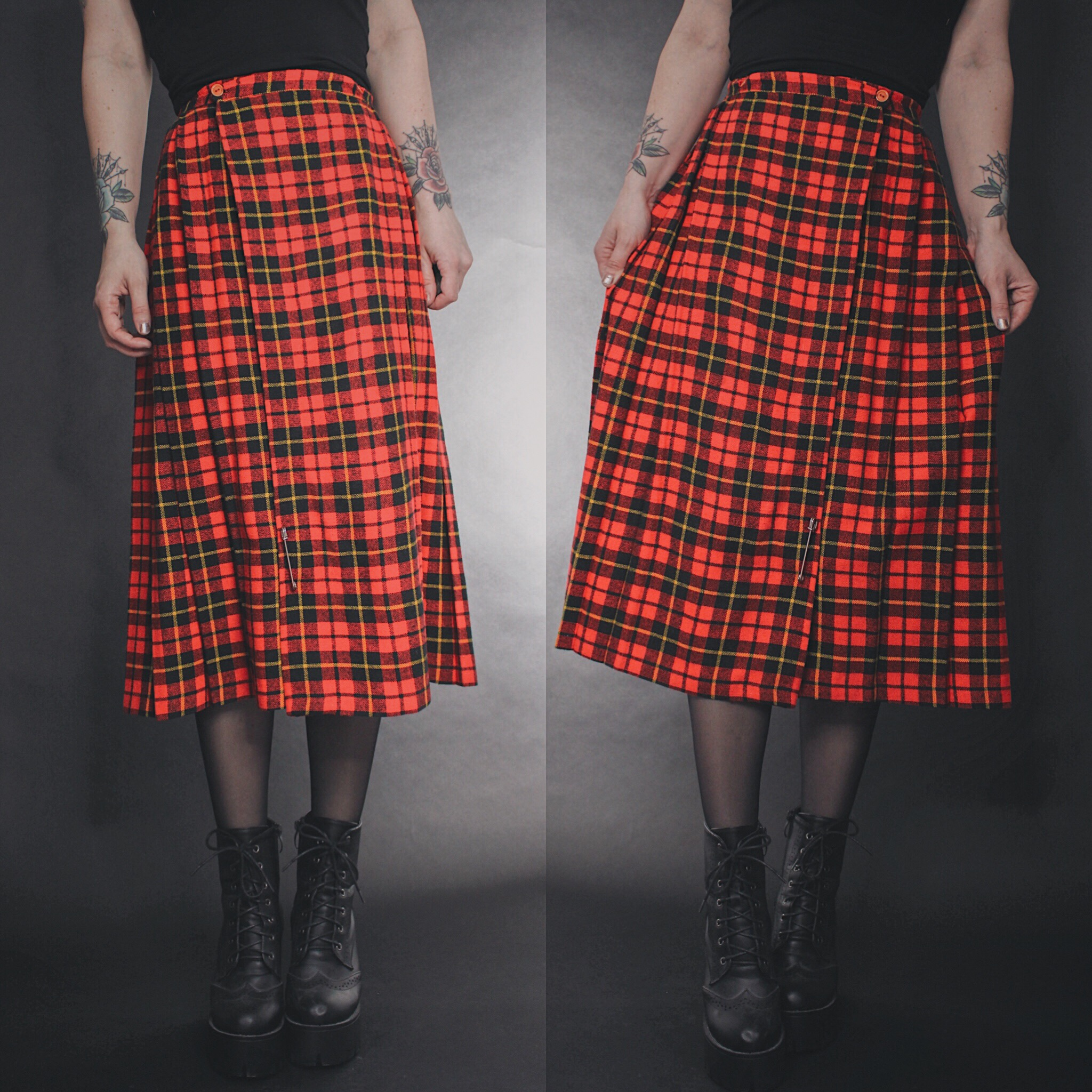 208a63b44 RESERVED FOR MAXX - Vintage 90s Red Plaid Flannel Midi Skirt · Last ...