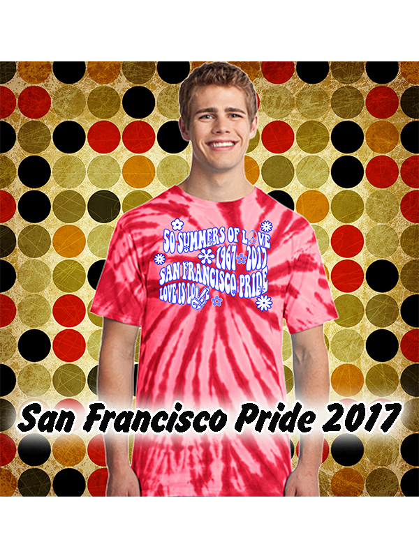8003fe96c116 San Francisco Pride Summer of Love RED Tie Dye T-shirt from We the People  Clothing