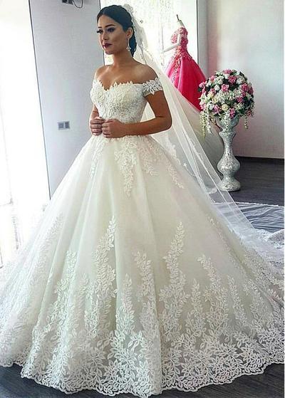 Ball Gown Lace Wedding dress,wedding dress, cheap wedding dress ...