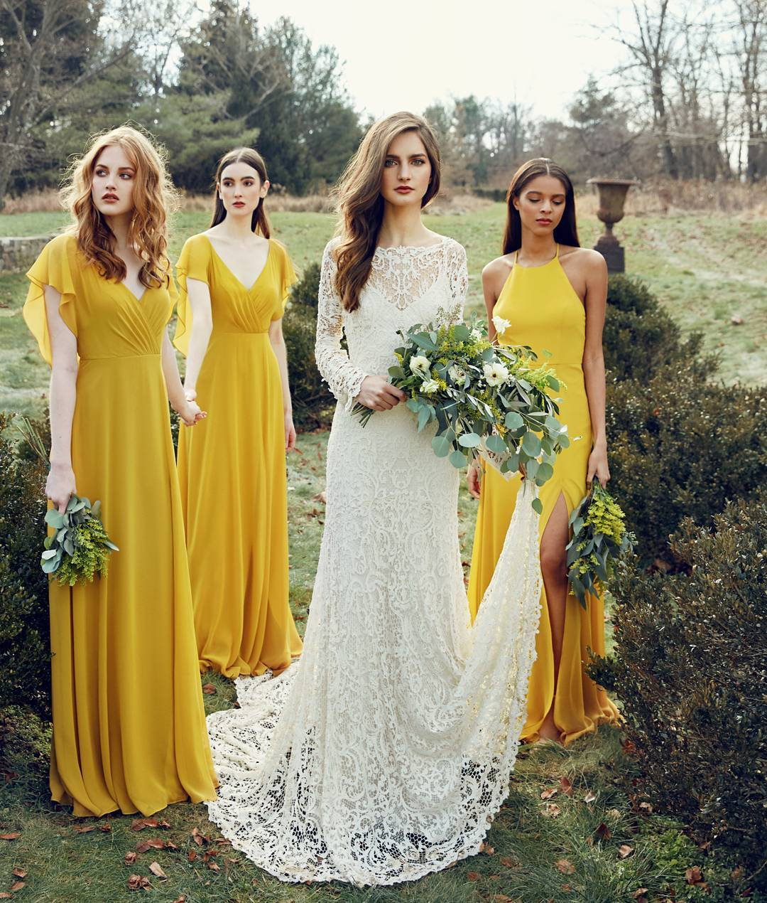 06b391c31a Yellow Chiffon Bridesmaid Dress,Simple Long Bridesmaid Dress,Free Shipping  over 3 pieces from MychicDress