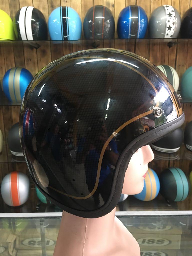 Airbrush Painted Custom Motorcycle Half Helmet With Harley Davidson