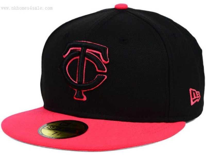 a92caed91f6 Minnesota Twins MLB Amplify 59FIFTY Cap Black Lava Red on Storenvy