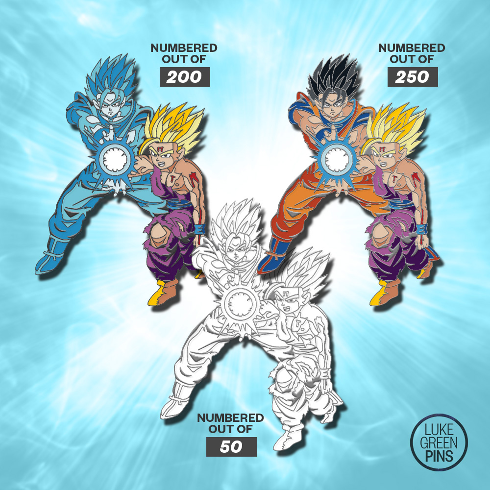 6ad0913d Dragon Ball Z - Father & Son Kamehameha Pin Pack on Storenvy