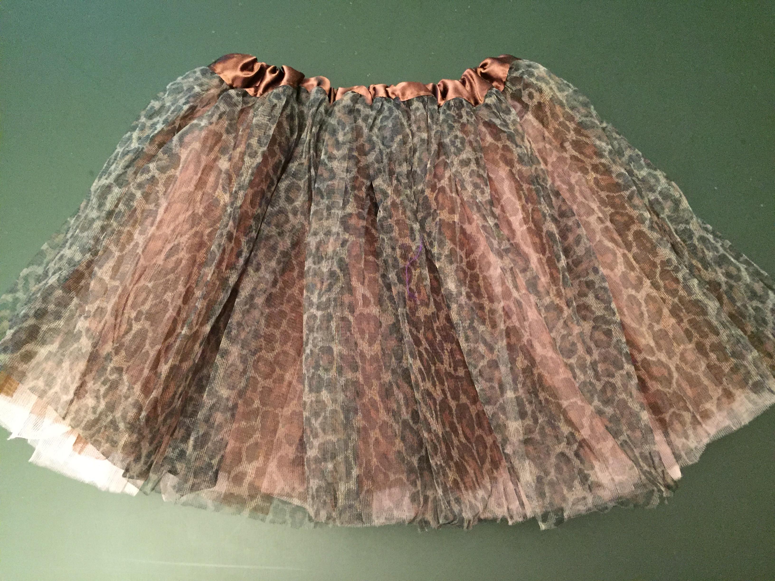 1f463e2c9e Cheetah-print tutu with pink underskirt on Storenvy