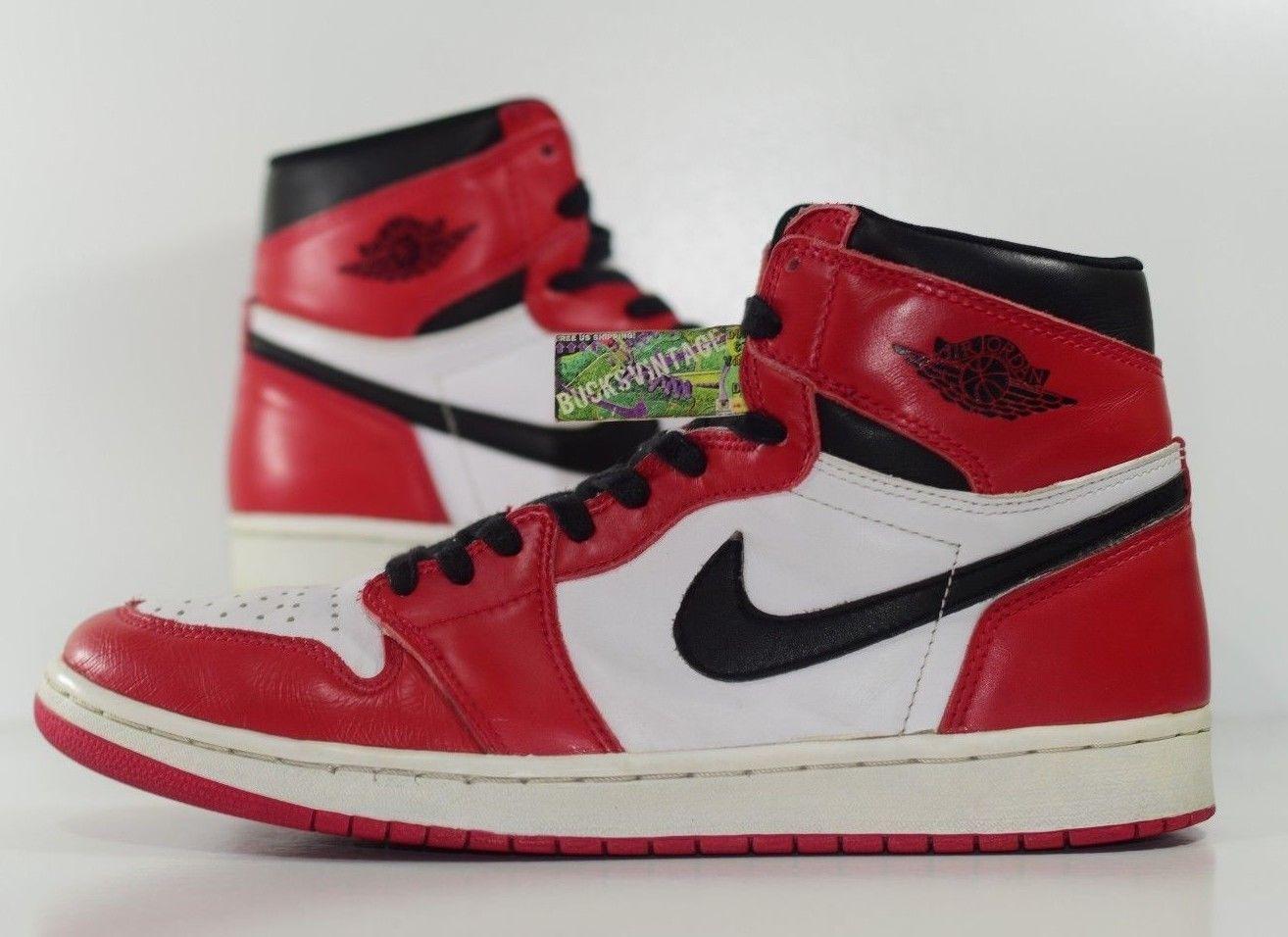 detailed look ce1eb 2dd81 Size 12 | 1994 Nike Air Jordan 1 High OG Retro Authentic Vintage RARE 130207 -