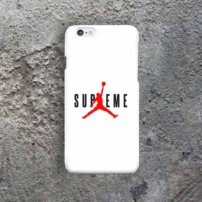 half off 00806 a2696 Supreme Nike Air Jordan iphone 7 7+ 8 8+ galaxy s7 s9 s8 edge s8+ S9+ hard  case