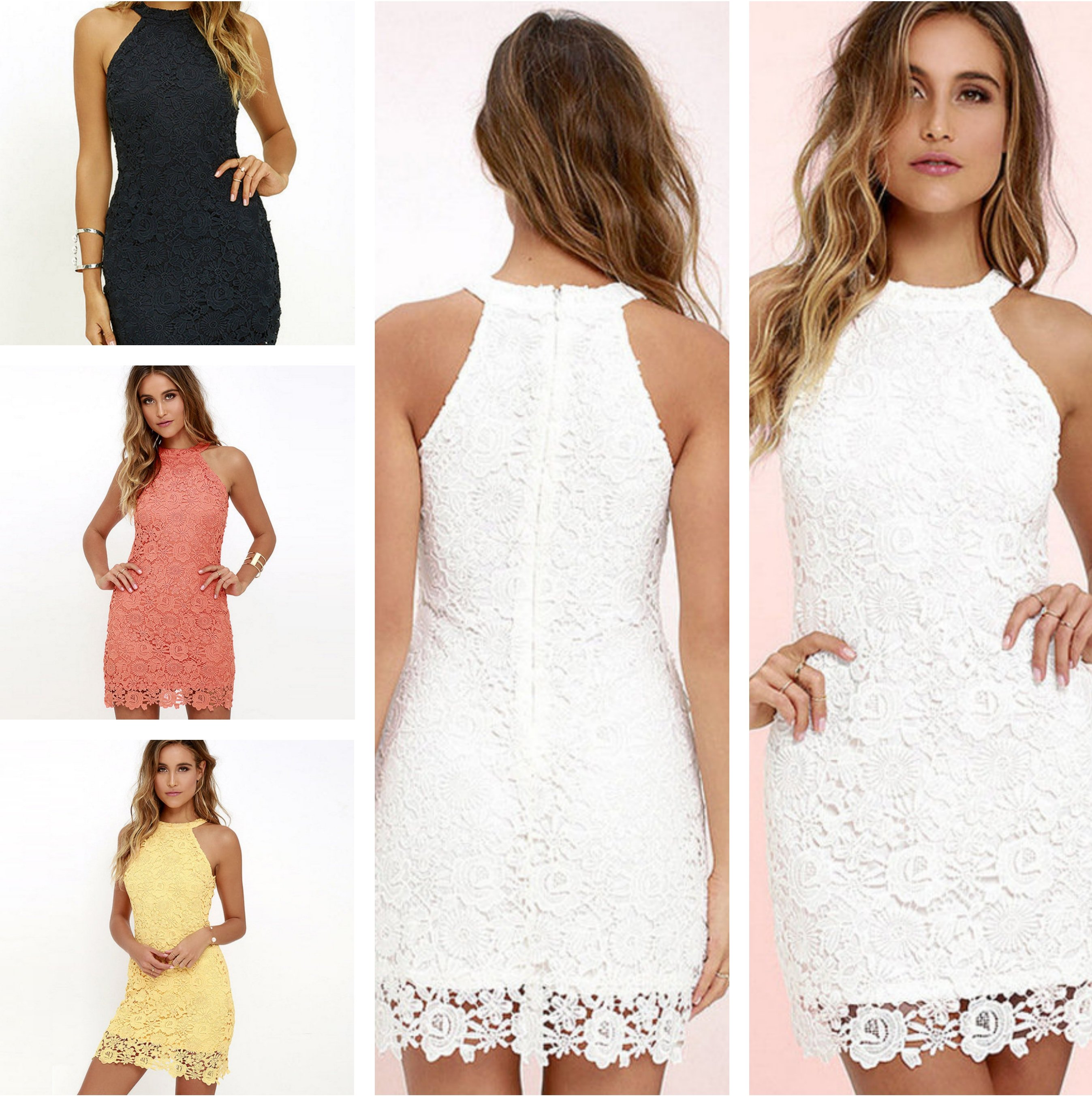 6503fb5d8003e Stunning, Women Elegant Sexy Neckholder Sleeveless Mesh Bodycon Lace Mini  Dress, For Wedding, Nightclub Pretty Women, So Bling! from Chyclothing ...