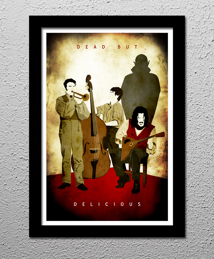 What We Do In The Shadows - Original Minimalist Retro Art Poster Print from  CultClassicPosters com