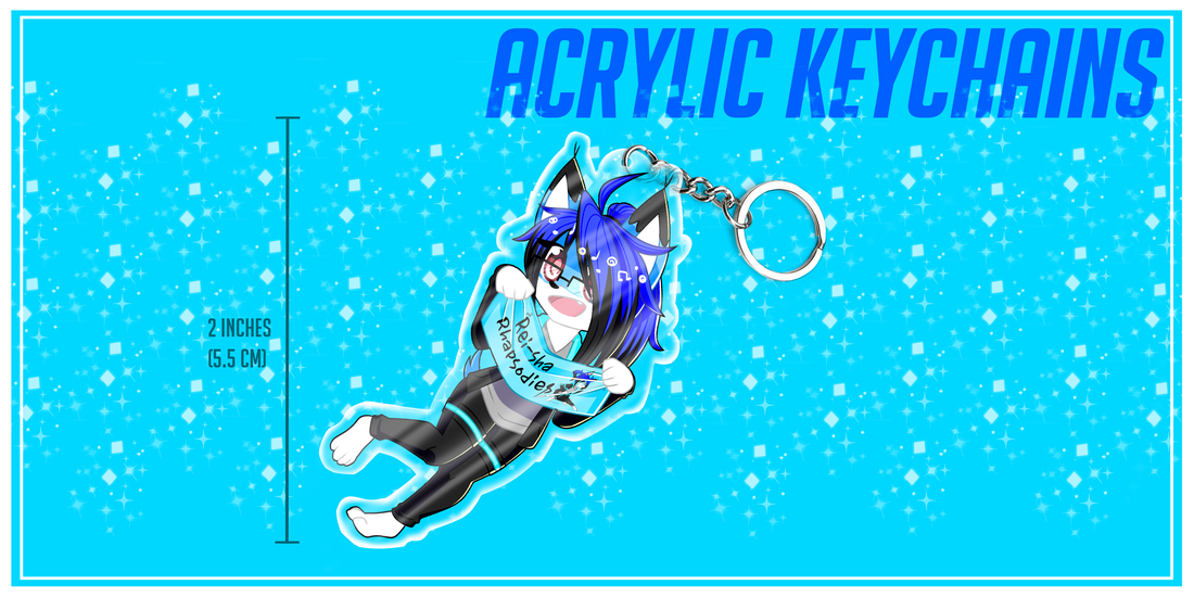 2 Inch Custom Acrylic Full Body Keychain