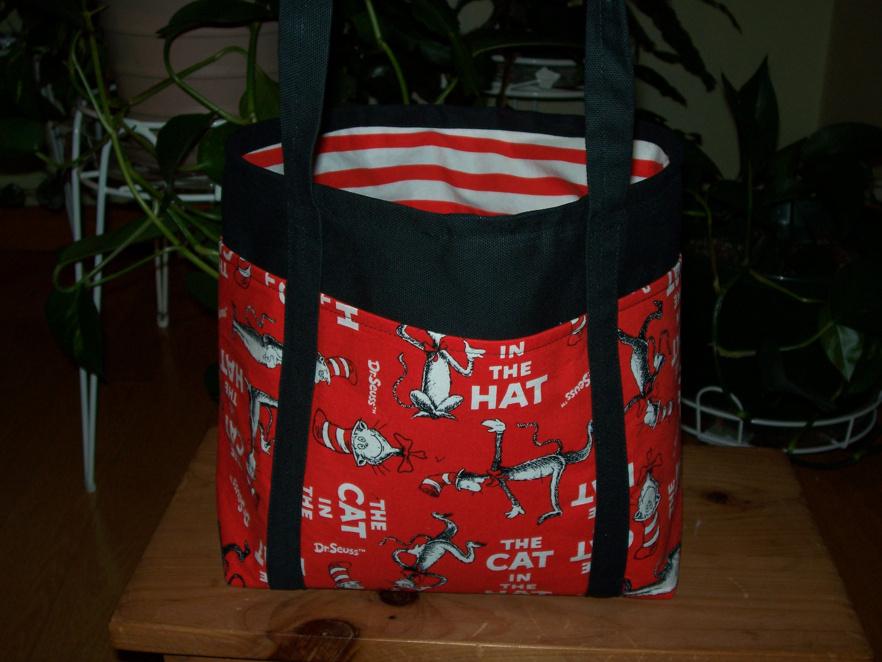 Sew Chic Boutique | Cat in the Hat Tote Bag or Diaper Bag ...