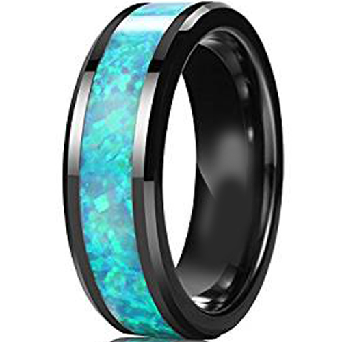 Opal Wedding Band.Coi Tungsten Carbide Opal Wedding Band Ring Tg3827aa Sold By Coi Jewelry