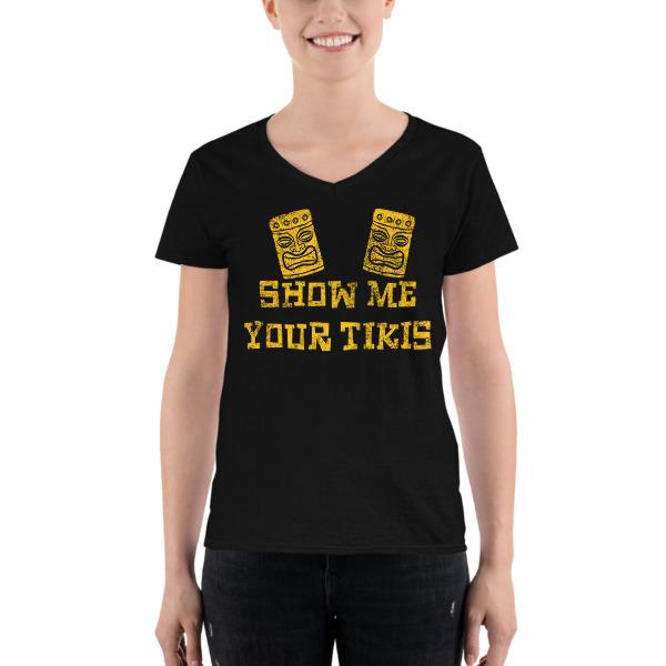 edc1281cc3c57e Show Me Your Tikis Women s Casual V-Neck Shirt on Storenvy