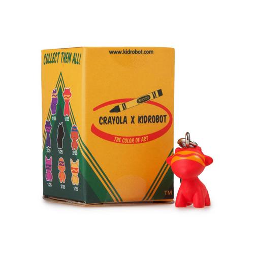 MunnyWorld Crayola Zipper Pull Keychain Series Kidrobot Munny Orange 2//25