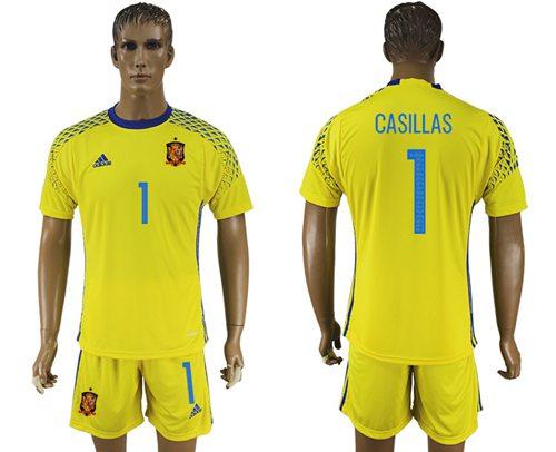 d0e81bfd9 Spain  1 De Gea Green Goalkeeper Soccer Country Jersey on Storenvy