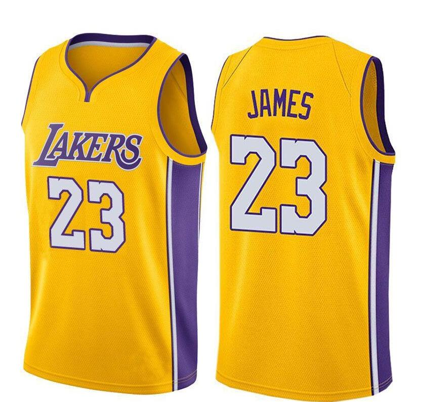 2018 Men S Los Angeles Lakers 23 Lebron James Basketball Jersey On