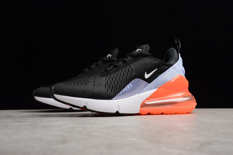 separation shoes 844d5 08be6 Nike Air Max 270 Black/White/Orange Womens Running Shoes from Toms
