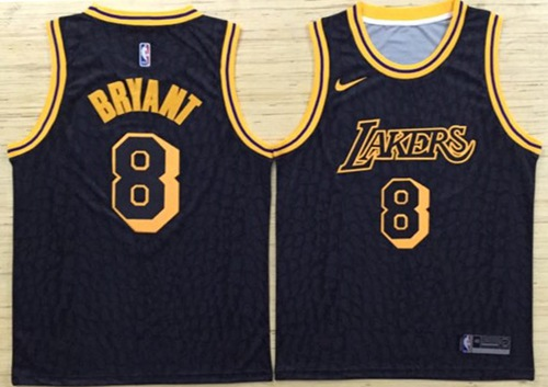 4ca38e6a72d Nike Lakers  8 Kobe Bryant Black NBA Swingman City Edition Jersey on ...
