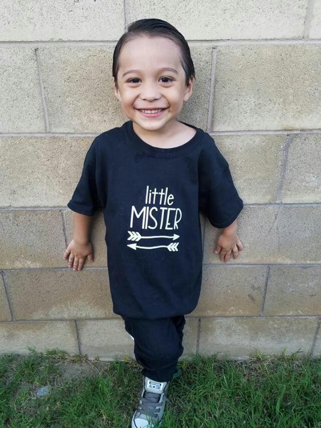 6f22d9f50 Boy's Graphic tee shirt infant toddler children's little mister - Thumbnail  1