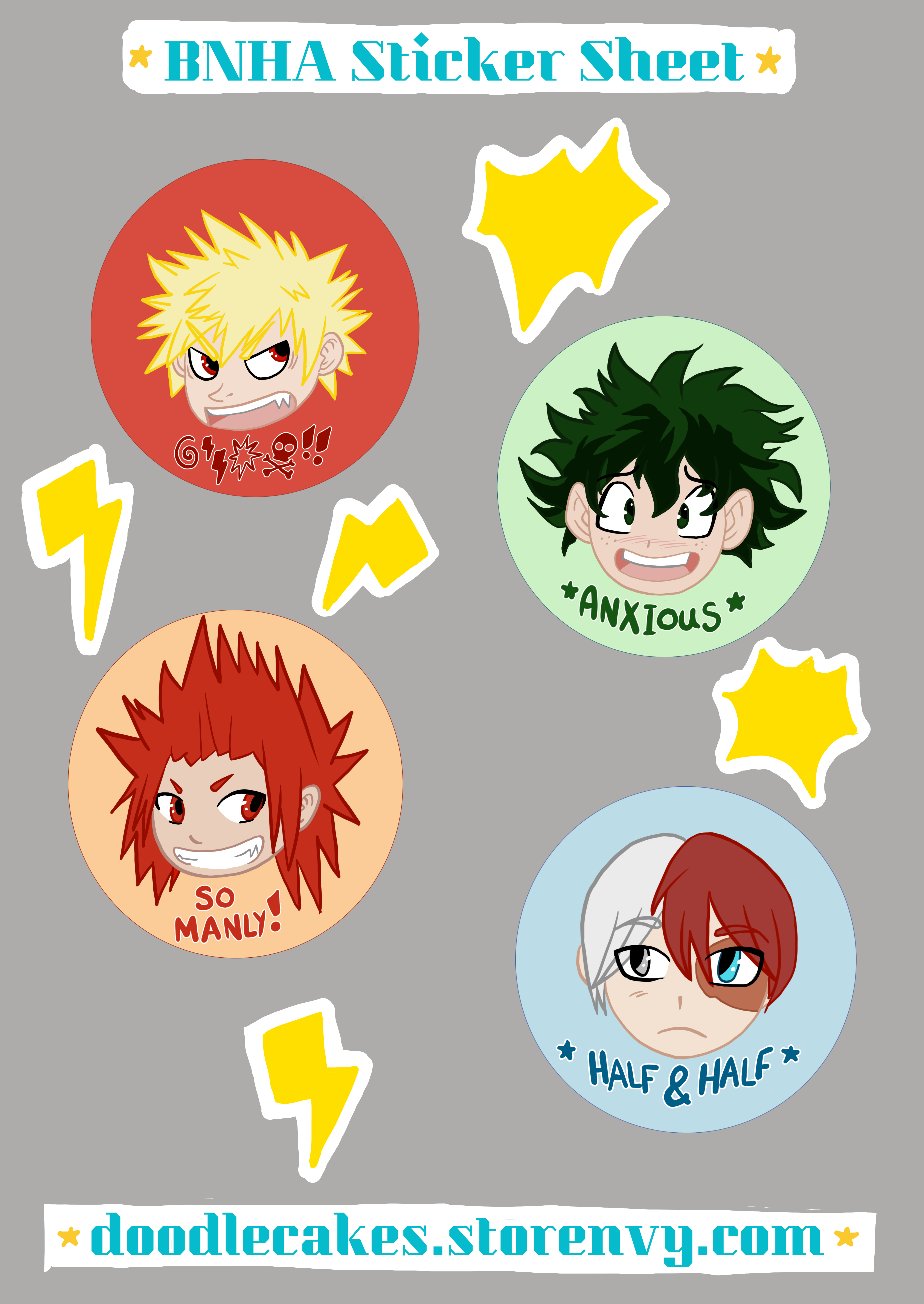 graphic about Printable Vinyl Stickers known as BNHA Vinyl Sticker Sheet