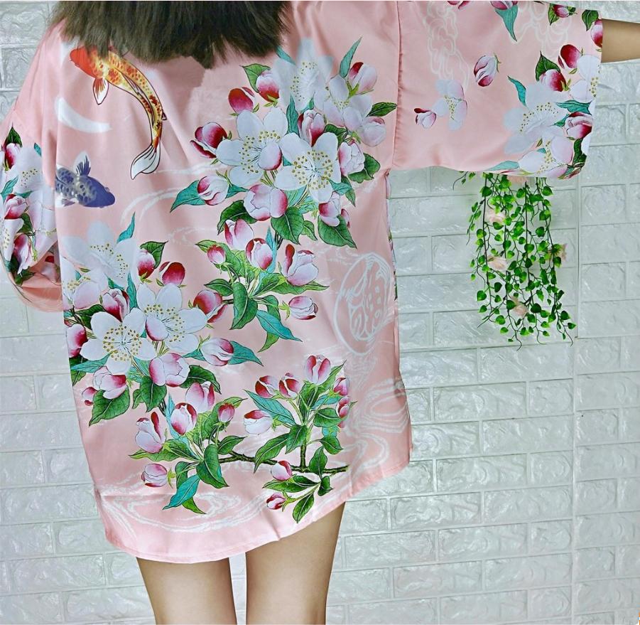 66985d00d3 Harajuku Floral Carp Kimono coat · Harajuku Fashion Style · Online ...