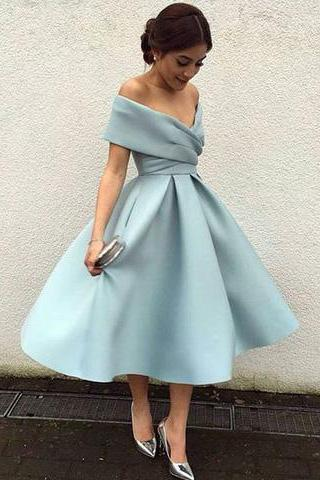 Off Shoulder Safe Green Short Cheap Homecoming Dresses Online 18388
