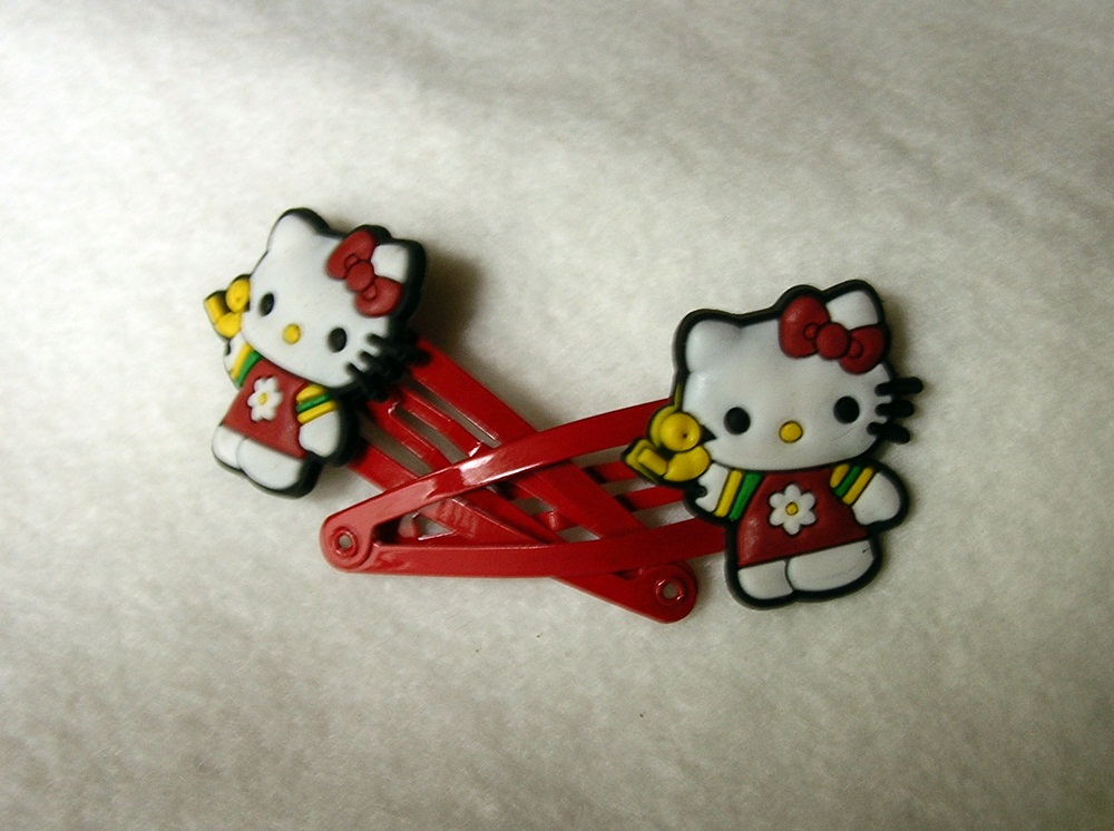 913100aac Little Red Dress Hello Kitty Hair Clips on Storenvy