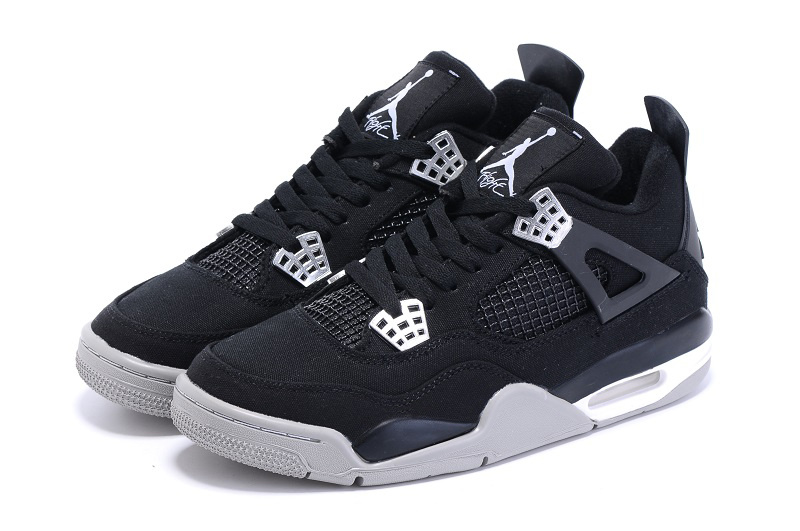 best loved ac594 ee96e ... Eminem x Carhartt x Nike Air Jordan 4 Retro Black silver Shoes -  Thumbnail 3 ...