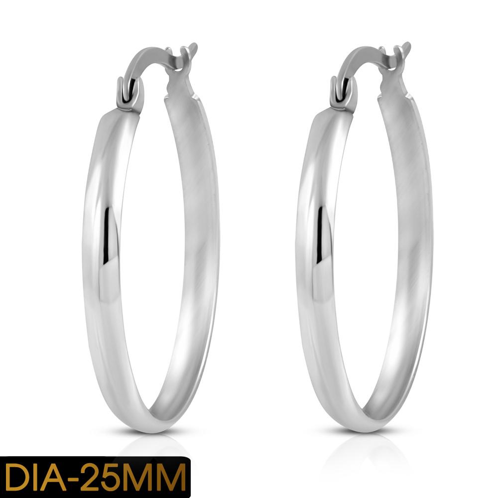 939f075da 25 mm Stainless Steel Hoop Earrings on Storenvy