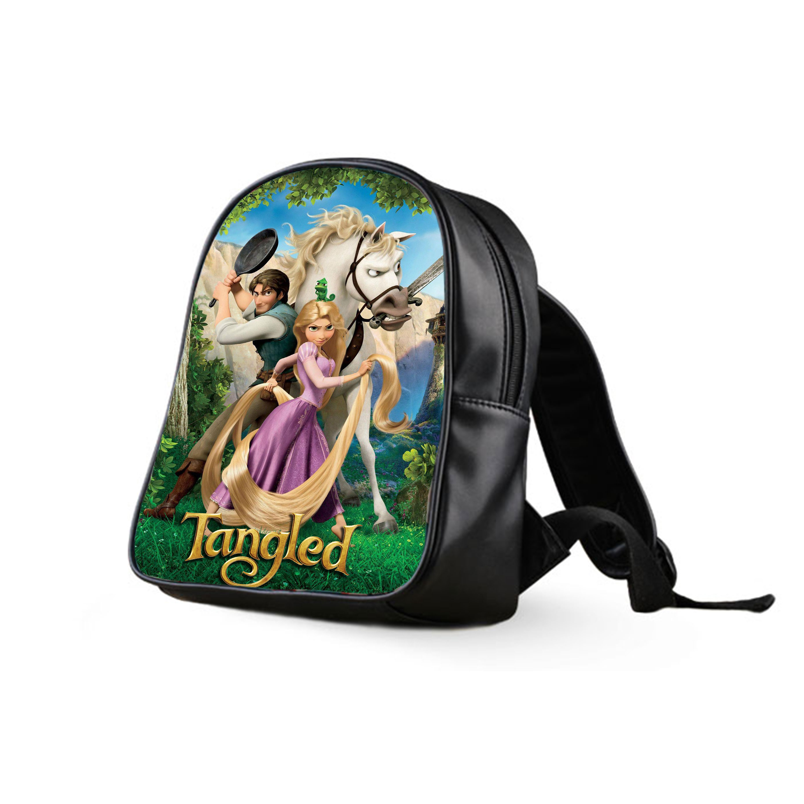 472ecc8bddf ... Disney Tangled Bag Princess School Bag Backpack Boy Girl Unisex on