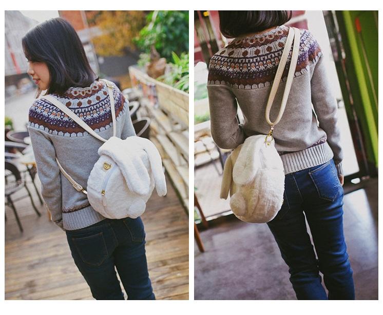 1e67c60ac67e Fluffy rabbit ears backpack  sling bag on Storenvy