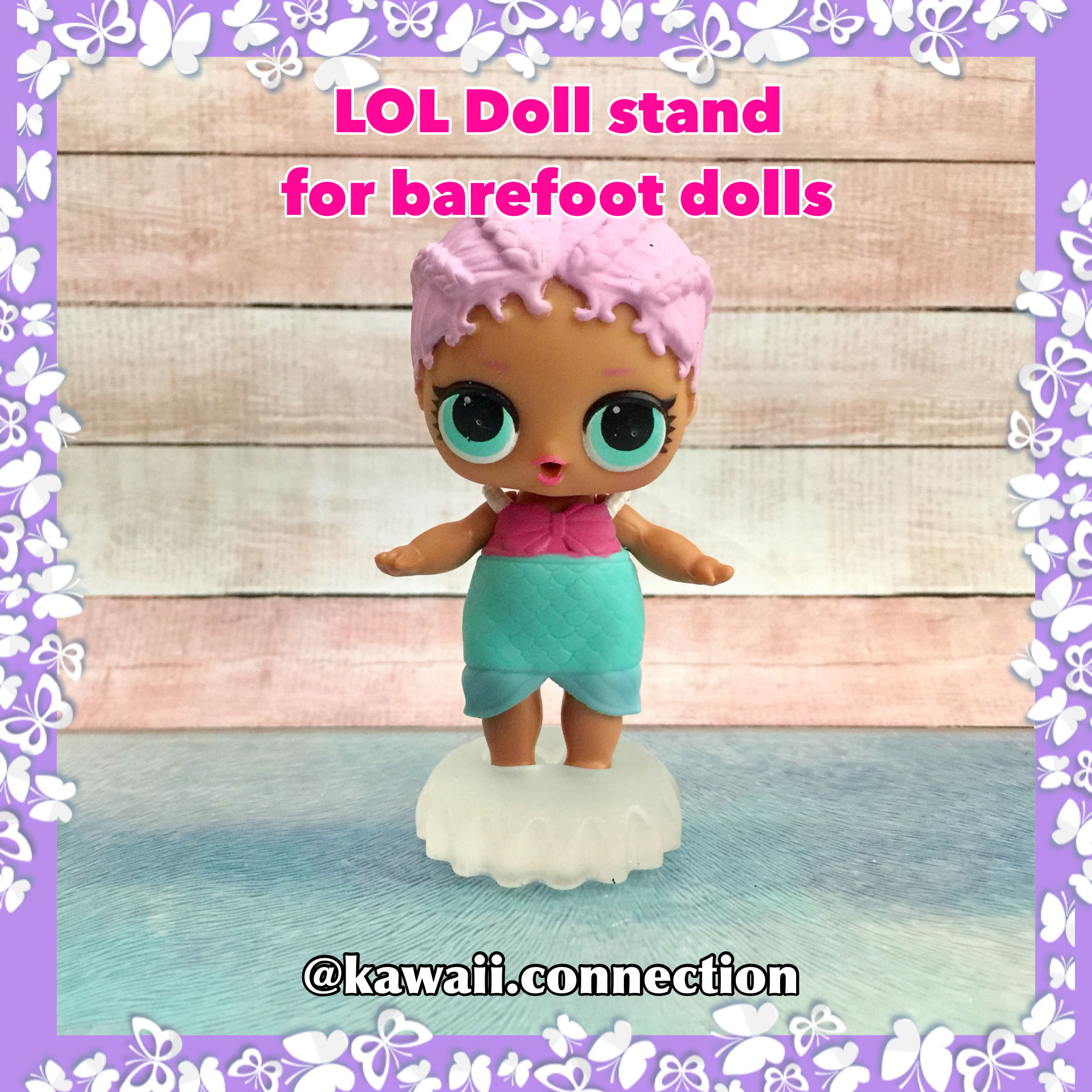 Barefoot Set Of 5 Pcs Custom Lol Surprise Doll Stand For Birthday