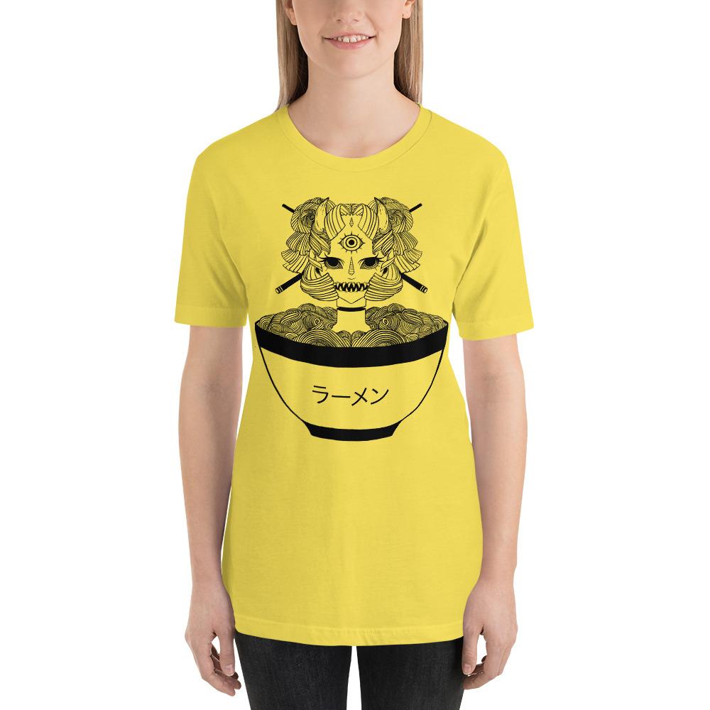 4a56f6569 Ramen Noodle Monster Girl T Shirt, Creepy Manga Anime Art Clothing,  Harajuku Fashion, ...