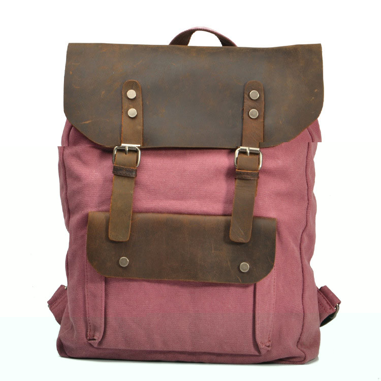 87fd21998ac0 Vintage Style Leisure College Women Bag Leather Travel Backpack - Thumbnail  1 ...
