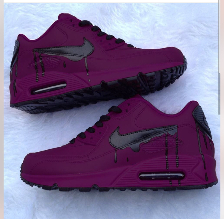 264a8230e42 Tyrian Purple and Black Custom Nike Air Max 90 on Storenvy